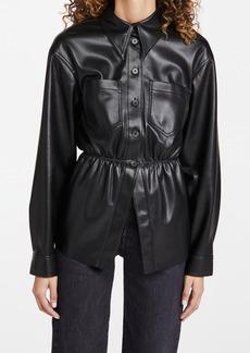 Nanushka Thalita Faux Leather Shirt