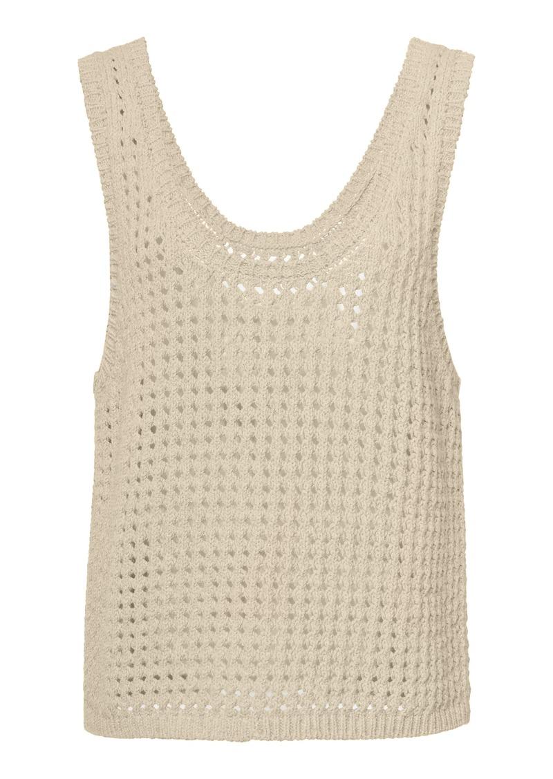 Nanushka Tula Crochet-Knit Cotton-Blend Tank Top