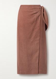Nanushka Net Sustain Randi Linen Wrap Skirt