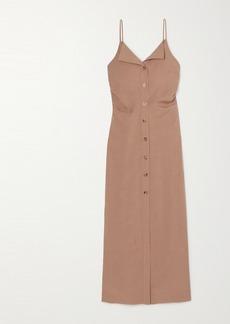 Nanushka Paz Open-back Woven Midi Dress