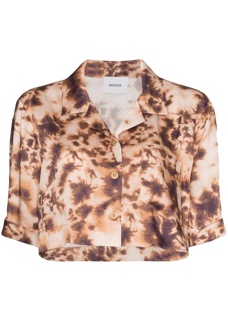 Nanushka Rhett tie-dye cropped shirt