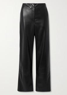 Nanushka Rhyan Vegan Leather Straight-leg Pants