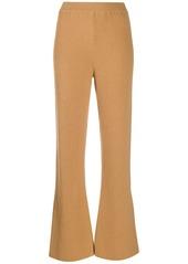 Nanushka ribbed flared trousers