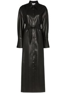 Nanushka Rosana faux-leather shirt dress