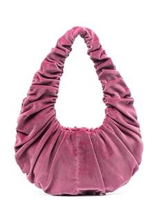 Nanushka Anja ruched velvet shoulder bag