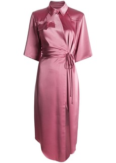 Nanushka satin wrap dress