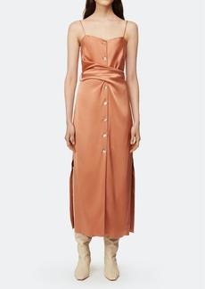 Nanushka Sayan Belted Satin Maxi Dress - L - Also in: XL, S, XS, M