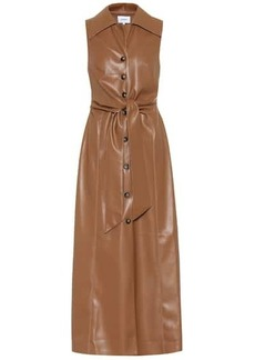Nanushka Sharma faux leather midi dress