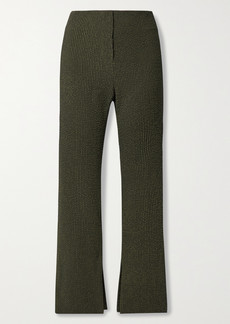 Nanushka Tabbie Checked Seersucker Straight-leg Pants