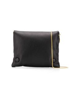 Nanushka Tao puffer wallet with chain