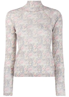 Nanushka tapestry flower jumper