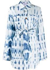 Nanushka tie-dye shirt dress
