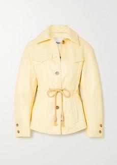 Nanushka Tobias Belted Recycled Leather-blend Jacket