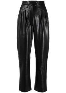 Nanushka vegan leather high waisted trousers