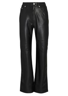 Nanushka Vinni Vegan Leather Straight-Leg Pants
