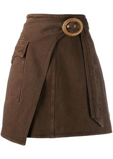 Nanushka Wrap Mini skirt