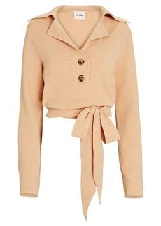 Nanushka Wrap Open Back Polo Sweater