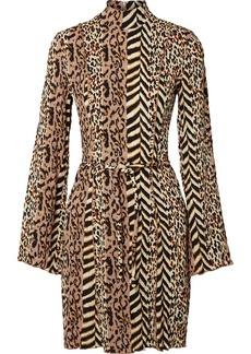 Nanushka Yai Paneled Printed Crinkled-voile Mini Dress