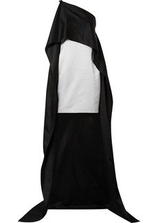 Narciso Rodriguez Asymmetric Cape-effect Silk-charmeuse Dress