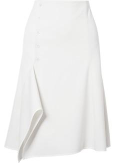 Narciso Rodriguez Asymmetric Stretch-wool Midi Skirt