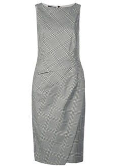 Narciso Rodriguez checkered fitted dress