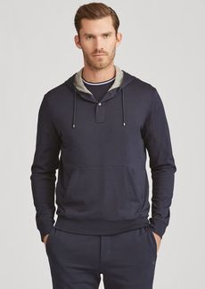 Narciso Rodriguez Cotton Hooded Henley T-Shirt