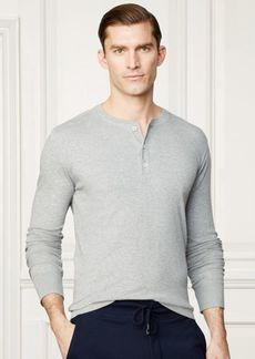 Ralph Lauren Cotton Interlock Henley Shirt
