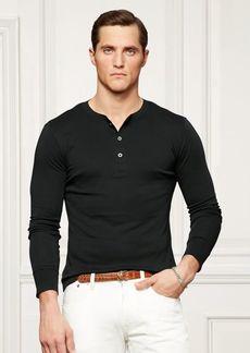 Ralph Lauren Cotton Interlock Henley Shirt