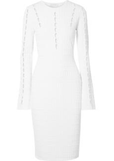 Narciso Rodriguez Cutout Ribbed Stretch-knit Dress