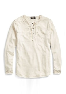 Narciso Rodriguez Embroidered Cotton Henley