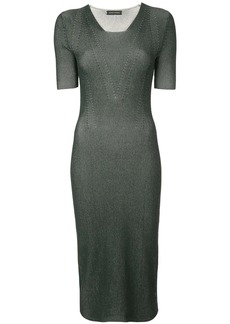Narciso Rodriguez fitted ribbed knit dress