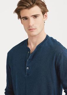Narciso Rodriguez Indigo-Dyed Cotton Henley
