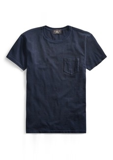 Ralph Lauren Indigo Striped Cotton T-Shirt