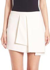 Narciso Rodriguez Asymmetric Silk Blend Skirt