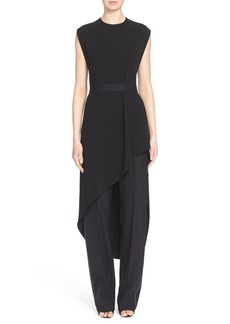 Narciso Rodriguez Asymmetrical Crepe Jersey Tunic Dress