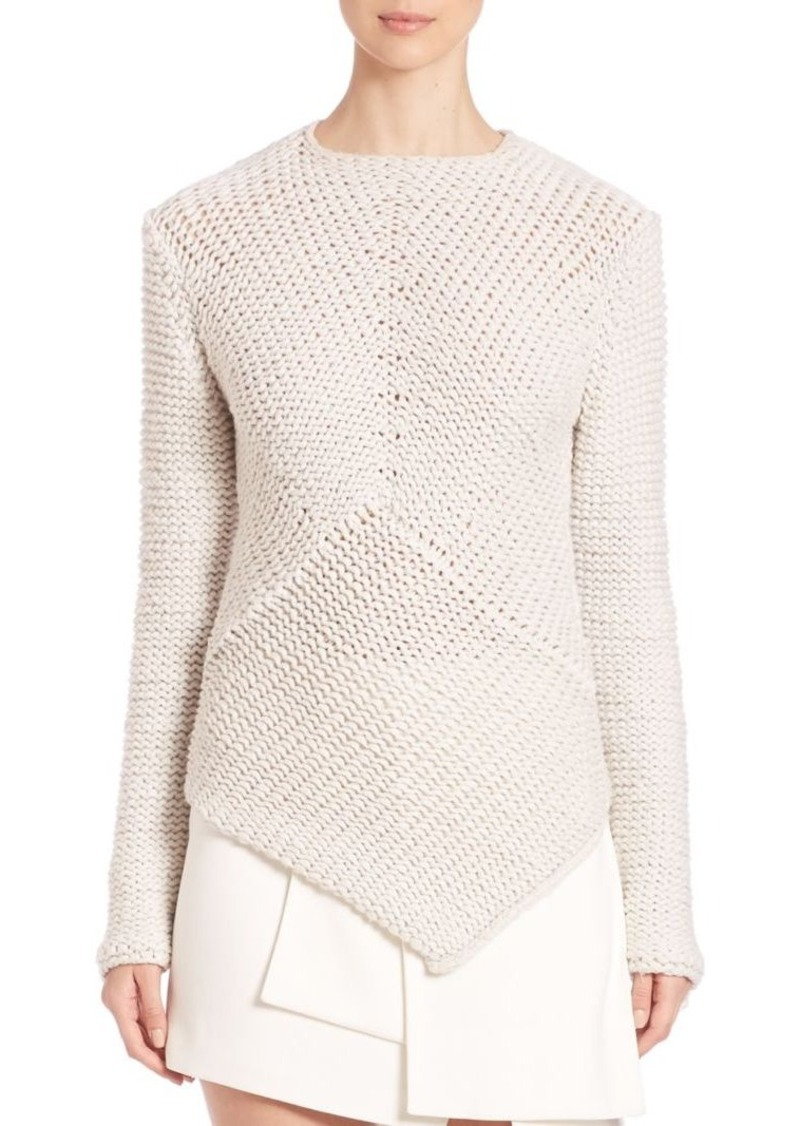 Narciso Rodriguez Asymmetrical-Hem Cashmere Sweater
