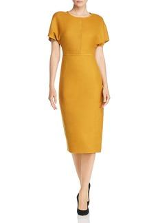 Narciso Rodriguez Back-Zip Wool Midi Dress