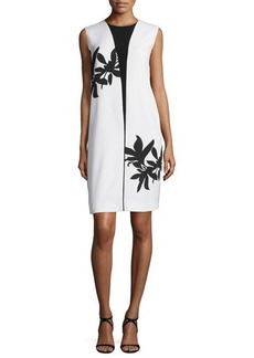 Narciso Rodriguez Bold Floral-Print Sleeveless Shift Dress