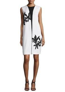Narciso Rodriguez Bold Floral-Print Sleeveless Shift Dress