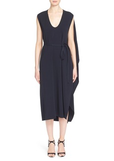 Narciso Rodriguez Cape Back Crepe Jersey Dress