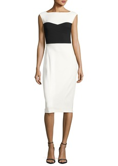 Narciso Rodriguez Colorblock Ballet Sheath Dress