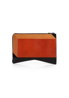 Colorblock Intersia Folio Clutch