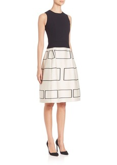 Narciso Rodriguez Contrast Fit-And-Flare Dress