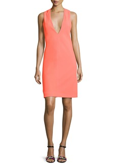 Narciso Rodriguez Deep-Armhole V-Neck Shift Dress