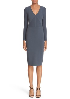 Narciso Rodriguez Double Knit Midi Sheath Dress