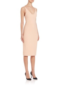 Narciso Rodriguez Fitted Nude Dress