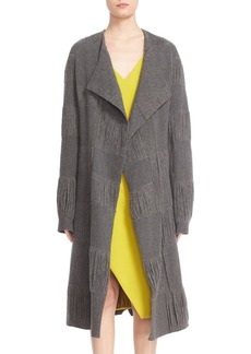 Narciso Rodriguez Fringe Stretch Wool Duster