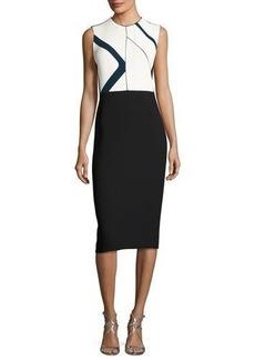 Narciso Rodriguez Graphic-Print Sleeveless Sheath Dress