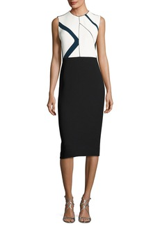 Narciso Rodriguez Graphic-Print Sleeveless Sheath Dress