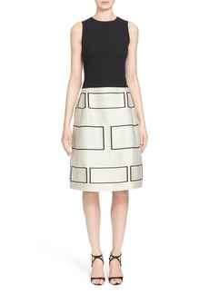 Narciso Rodriguez Jacquard A-Line Dress